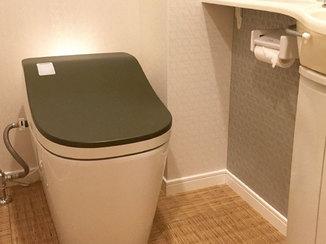 トイレリフォーム 内装とマッチするようコーディネートしたこだわりのトイレ