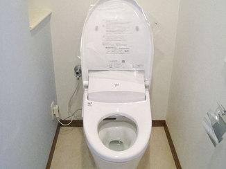 トイレリフォーム 内装にこだわりおしゃれに仕上がったトイレ・洗面所