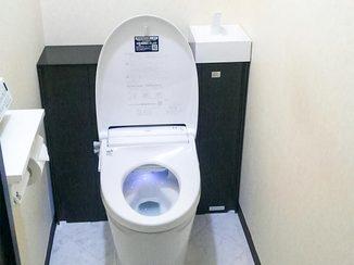 トイレリフォーム 収納力を上げながらもすっきりしたトイレに