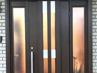 エクステリアリフォーム 閉めていても換気が出来る玄関ドア